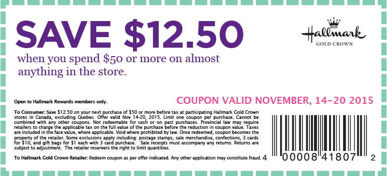 Hallmark stores coupons printable